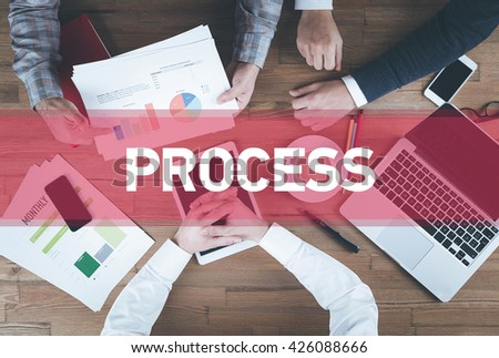 Business team working and Process concept - stock photo