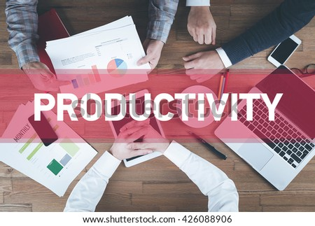 Business team working and Productivity concept - stock photo