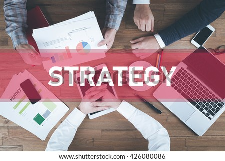 Business team working and Strategy concept - stock photo