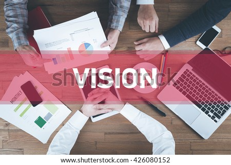 Business team working and Vision concept - stock photo