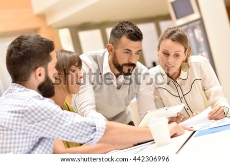 Business team working in meeting room