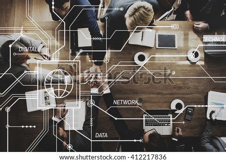 Business Team Working Meeting Brainstorming Concept - stock photo