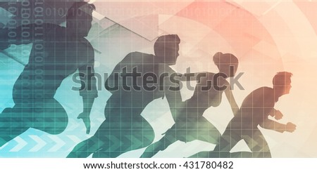 Business Team Working Together to Achieve Better Results 3d Illustration Render - stock photo