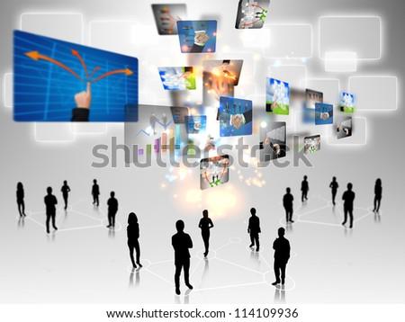 business teamwork - stock photo