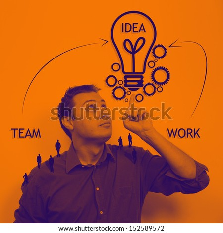 Business teamwork and idea concept  - stock photo