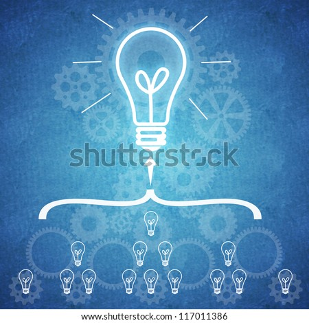 Business teamwork and innovation | Small ideas leading to big innovations in business as a result of teamwork | Every element counts in a business just like in the case of a complex mechanism - stock photo