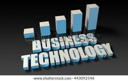 Business technology graph chart in 3d on blue and black 3d Illustration Render