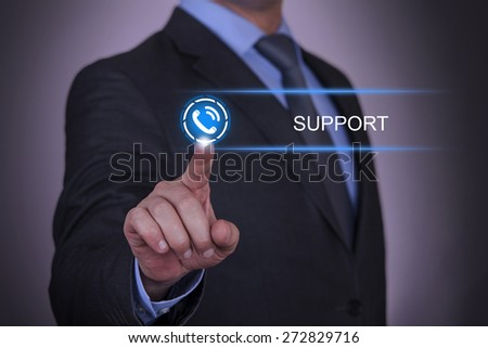 Business Telephone Support - stock photo