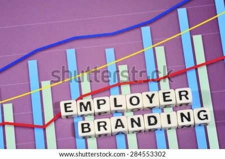 Business Term with Climbing Chart / Graph - Employer Branding   - stock photo
