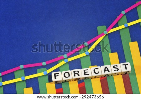 Business Term with Climbing Chart / Graph - Forecast - stock photo