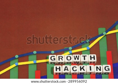 Business Term with Climbing Chart / Graph - Growth Hacking - stock photo
