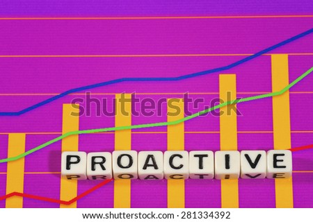 Business Term with Climbing Chart / Graph - Proactive