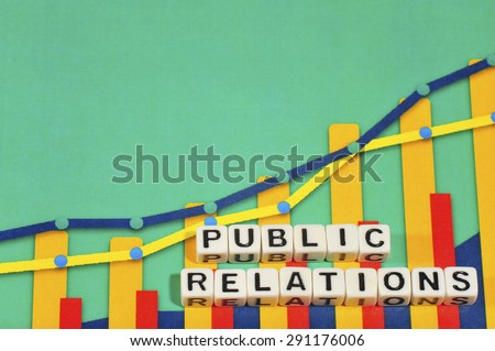 Business Term with Climbing Chart / Graph - Public Relations - stock photo