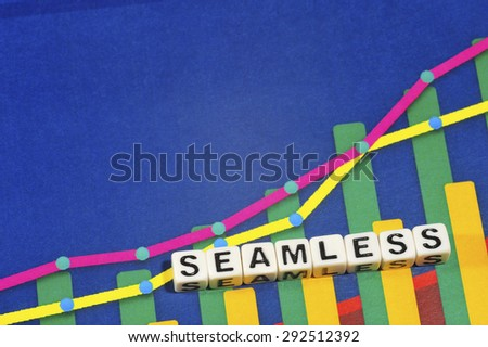 Business Term with Climbing Chart / Graph - Seamless - stock photo