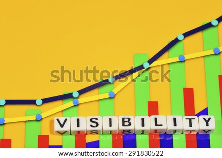 Business Term with Climbing Chart / Graph - Visibility - stock photo