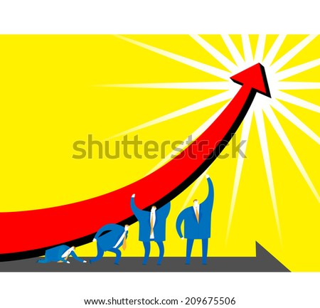 Business: The way to success - stock photo