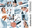 business theme photo collage composed of few images - stock