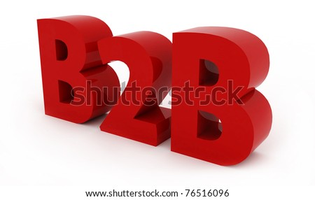 business to business - stock photo