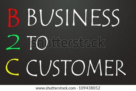 business to customer symbol - stock photo