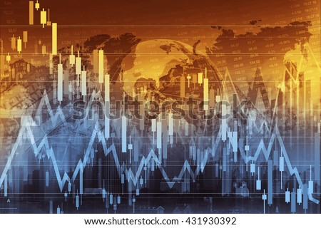 Business Trading Concept Illustration. Global Economy and the Stock Markets. - stock photo
