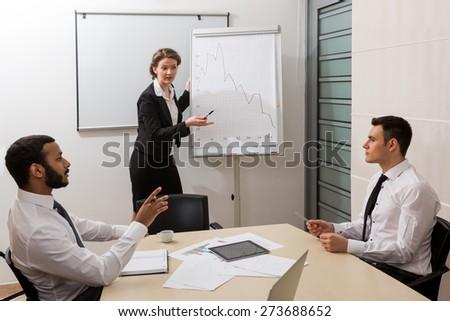 Business training. - stock photo