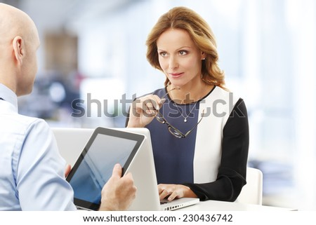 Business training at office. Business people.  - stock photo
