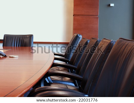 Business training room or board room.