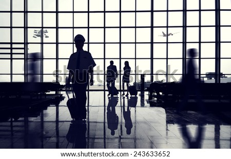 Business Travel International Airport Transportation Concept