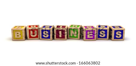 Business with play cubes