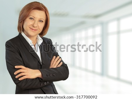 Business woman. - stock photo