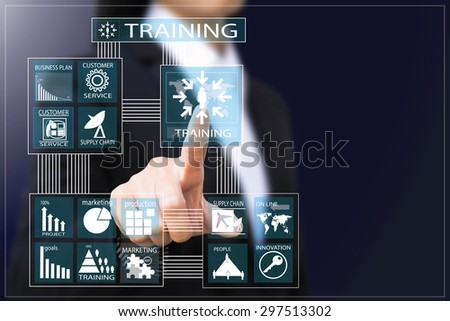 business woman , Businesswoman Training presentation - stock photo