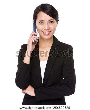 Business woman chat on cellphone