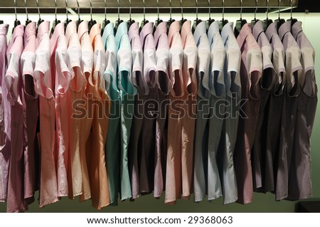business woman clothes store shop indoor - stock photo