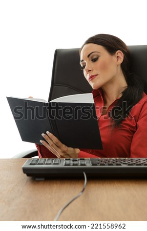 business woman drinking lot of coffee to try and keep awake