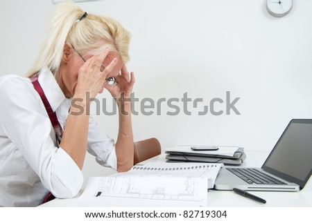 Business woman having stress