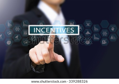 business woman , incentives concept - stock photo