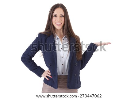 business woman isolated - stock photo