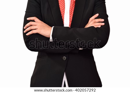 business woman on isolate background