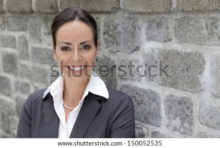Business woman outside