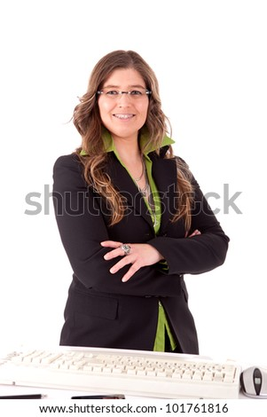 Business woman posing - stock photo