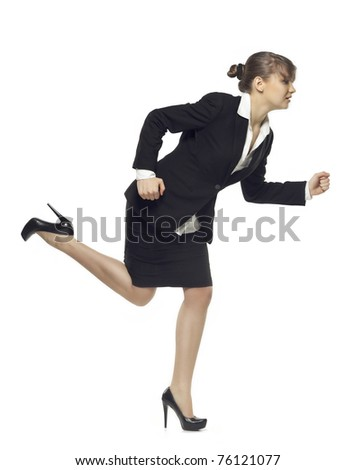 business woman running. see more on my page - stock photo