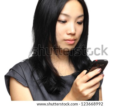 business woman use cellphone - stock photo