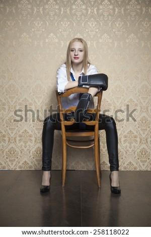 business woman warrior - stock photo