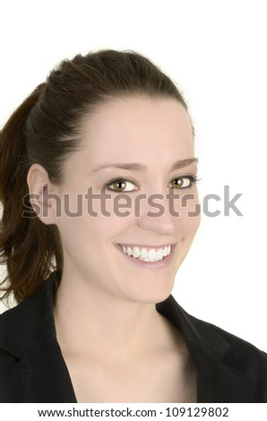 business woman, white background, studio shot, isolated
