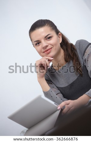 business woman with a tablet in the office