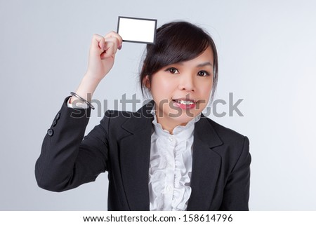 Business woman with name card