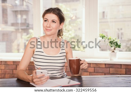 business woman working home office young stock photo