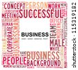 BUSINESS. Word collage on white background. - stock vector