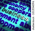 Business Word In Metal Representing Trading and Commerce - stock photo