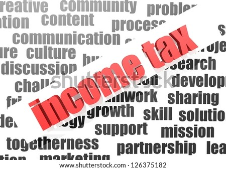 Business word of income tax